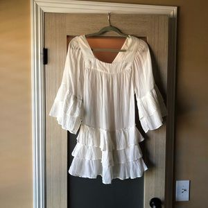 Free people off white tunic